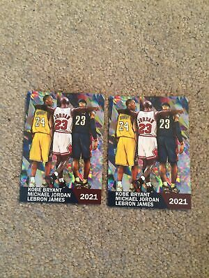 2021 Kobe Bryant Michael Jordan LeBron James Two Card Custom Lot