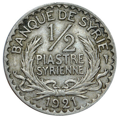 SYRIA 1/2 Piastre 1921 XF French Protectorate