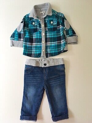 Baby Boys Jeans and Shirt Set by John Rocha - Age 3-6 Months