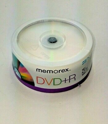 Memorex DVD+R Recordable Discs 25 Pack of 16x 4.7GB 120 Minutes Sealed