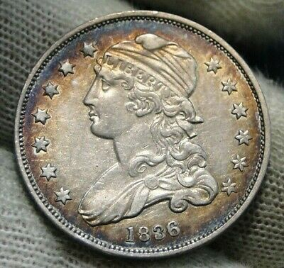1836 Capped Bust Quarter 25 Cents - Very Nice Coin, Free Shipping. (152)
