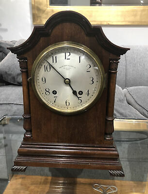 Antique Mahogany Wales & Mcculloch Bracket Clock - Coventry Astral 1880