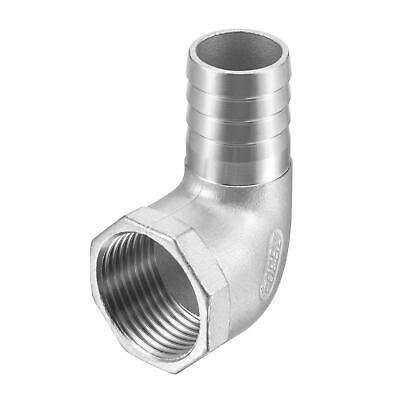 """304 Stainless Steel Hose Barb Fitting Elbow 25mm x 1"""" NPT Female Pipe Connector"""