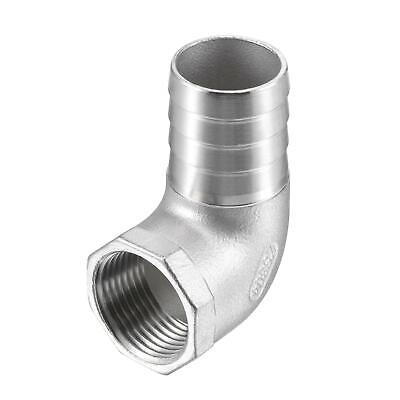 """304 Stainless Steel Hose Barb Fitting Elbow 32mm x 1"""" NPT Female Pipe Connector"""