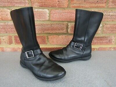 Clarks girlsLeather Boots School Shoes 1.5F-Brand New