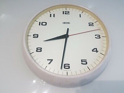 """Smiths Of England Analogue Wall Clock - 1970''- 80""""s Vintage Clock"""