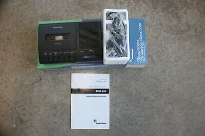Radio Shack Telephone Voice-Activated Cassette Recorder TCR-200 43-473 New n Box