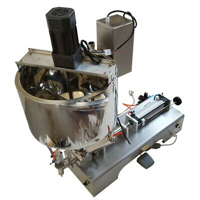 US Hot Sale 110V10-300ml Paste Liquid Heating Mixing Filling Machine with Hopper