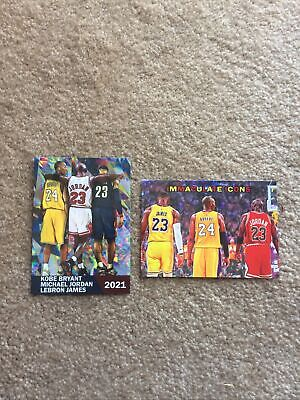 2021 Kobe Bryant Michael Jordan LeBron James ACEO Two Card Lot