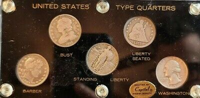 90% Silver United States Quarter Collector's Type Set!!