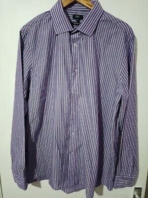 "Men's Size UK 17"" collar Striped Shirt"