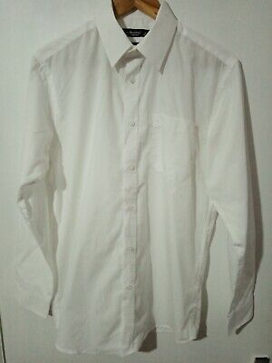 "Men's Size 15"" collar Plain White Shirt"