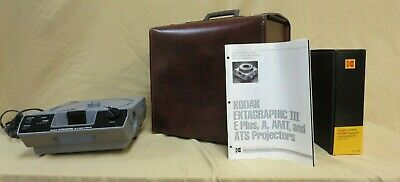 Kodak Ectagraphic III E Plus 35mm Slide Projector with remote carrying case etc