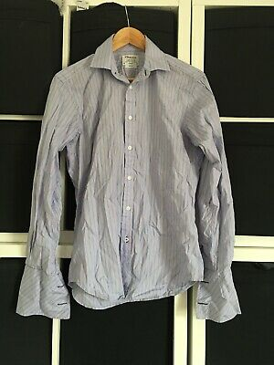 "T.M. Lewin Size 15"" Slim Fit Long Sleeve Stripe Shirt.  (q9)"