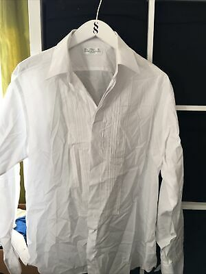 "Marks and Spencer 16.5"" Collar White Long Sleeve Shirt (J6)"