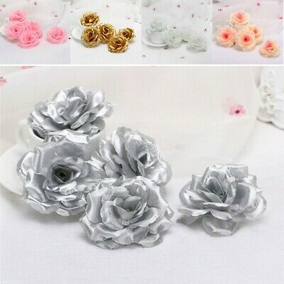20pcs Artificial Gradient Rose Flower Heads Bulk Wedding Party Decor 8cm