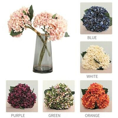 Artificial Flower Hydrangea Flowers Fake Bouquet Wedding Home/Garden Decoration