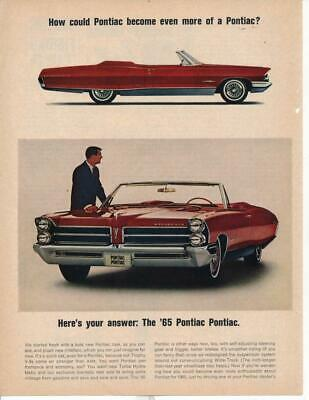 Magazine Ad - 1965 - Pontiac Bonneville - red