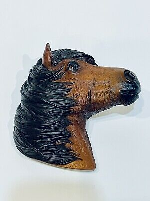 Vintage Horse Head Wall Hanging Bossons Fraser Art 3D Plastic Brown