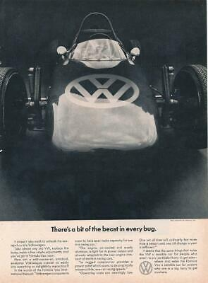 Magazine Ad - 1967 - Volkswagen - A beast in every bug