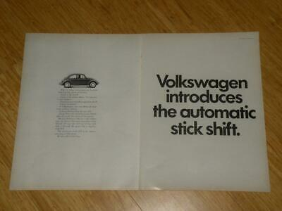 Magazine Ad - 1968 - Volkswagen -  (two pages)