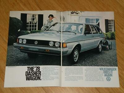 Magazine Ad - 1978 - Volkswagen Dasher - (two pages)