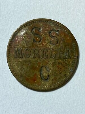Guatemala Token. Morelia. 1/2 real SSC Ctsp. on obv  CCSS Ctsp. on rev
