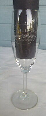vintage Wente Bros Sparkling cellers  winery wine glass Livermore California 8""
