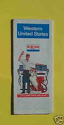 1980 United States road map Exxon Western