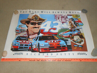 RICHARD PETTY / PONTIAC / STP ORIGINAL 1992 GM 2' x 3' POSTER / BROCHURE
