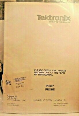 NEW Tektronix Probe P6007 100X 2pf BNC Opt.01 3.5' Cable  For 530 & 540 Series