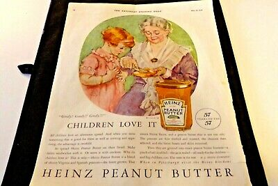 1926 HEINZ Peanut Butter ADVERTISEMENT  Exc. Cond. 12in. x 17in. Full Color