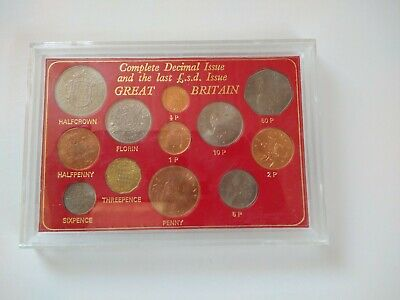 Complete Decimal Issue The Last L.S.D. Issue Great Britain 12 coin BROWN set
