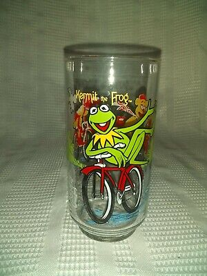 The Great Muppet Caper Glass Cup 1981 Mcdonalds Kermit The Frog 12Oz