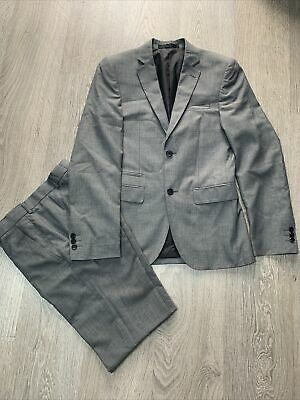 """Boys Grey Suit Jacket Medium. Trousers 28"""" 31"""" Limited Edition"""