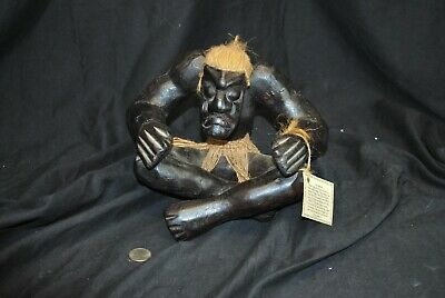 "Asmats Tribe of New Guinea ""Ugly Guys"" Figurine - Hand Craved - NWT - UNIQUE"