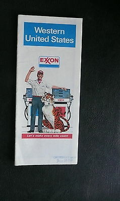 1979 Western United States  road map Exxon oil early interstate route 66