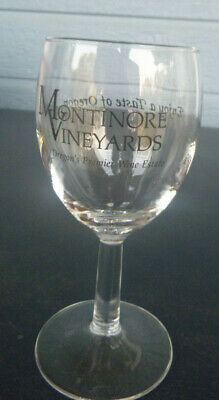 vintage Montinore Estate Vineyards Winery wine glass Forest Grove Oregon  5 1/4""