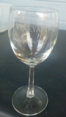 vintage Plam Vineyards Winery wine glass Napa Valley California 6 3/4 Bay