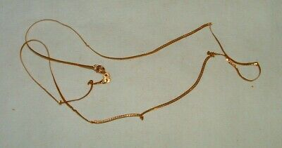 14K Solid Gold Italy Necklace Weighs 1.5 Grams
