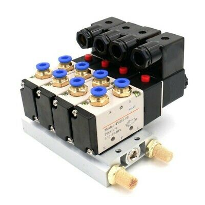 2 Position 5 Way Solenoid Air Valve 0.15~0.8Mpa Pneumatic Quick Fitting