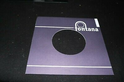 Fontana record company sleeve only 7""