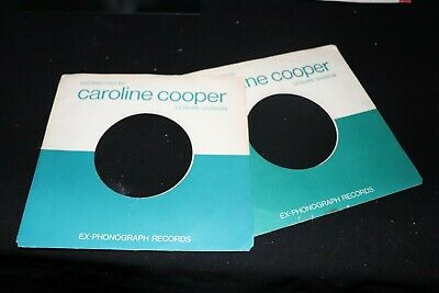 "Job Lot X 2 original Caroline Cooper record sleeves only 7"" ~ Used"