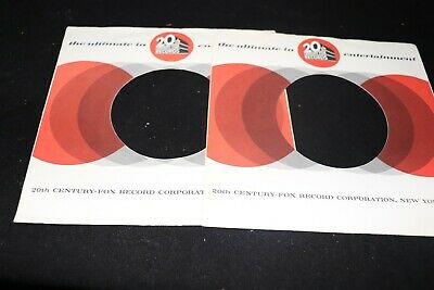 "Job Lot X 2 original US 20th Century Fox record sleeves only 7"" ~ Used"