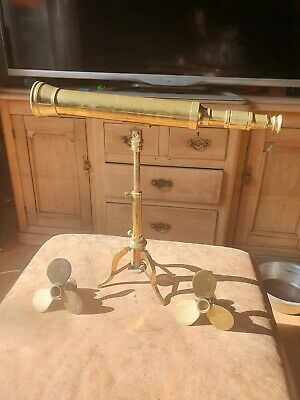 Operational 17 inch Brass Desk Telescope with  Tripod Nautical Ornamental