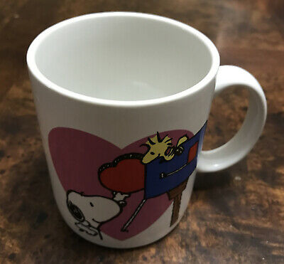 Peanuts Snoopy Mug Coffee Cup A Heart for You Woodstock Mailbox Applause Flaw