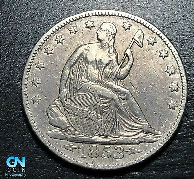 1853 P Seated Liberty Half Dollar  --  MAKE US AN OFFER!  #K3845