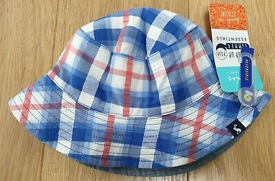 Joules Sunny White Fruit Sun Hat BNWT Ages 6-12 and 12-24 Months available