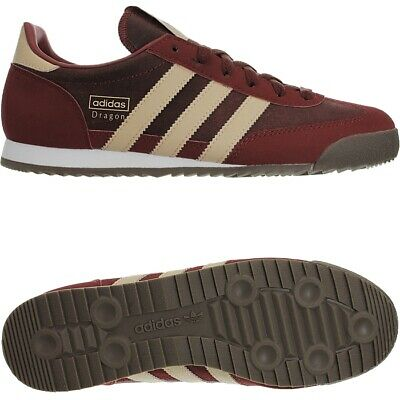 ADIDAS DRAGON DARK red Men's Low-Top sneakers leather trainers ...
