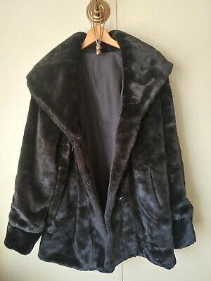 NWT Dennis Basso Reversible Diamond Quilted and Faux Fur Coat